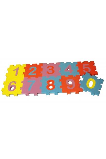 Ujuv erivärviline numbripuzzle 10 tk