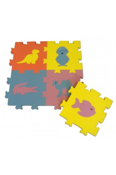 Ujuv erivärviline loomapuzzle