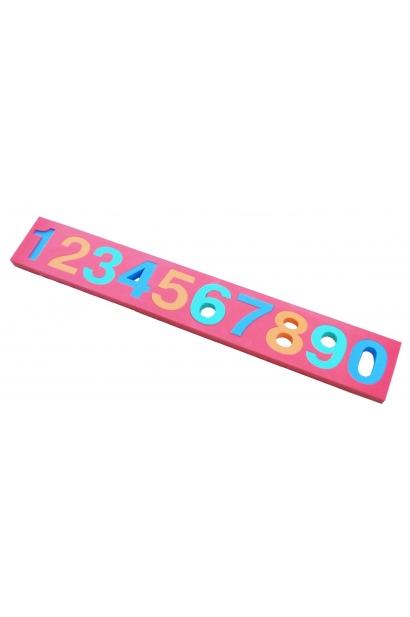 Erivärvilised ujuvad numbrid 0-9